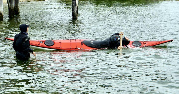 Cheri Perry mentoring kayak rolling