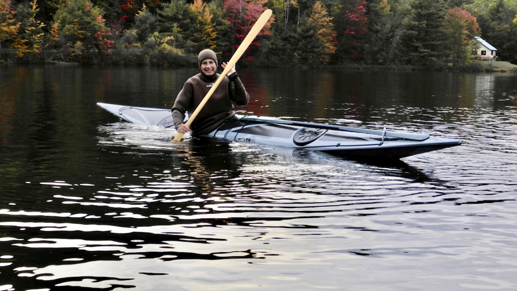 Cheri Perry paddling a Rebel Naja