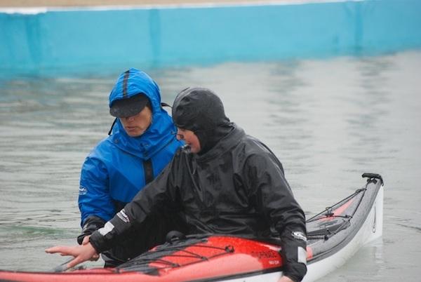 Kayaker wearing a Reed Tuiliq