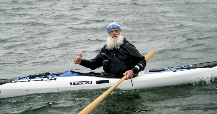 Turner giving Tiderace Kayaks a thumbs up!