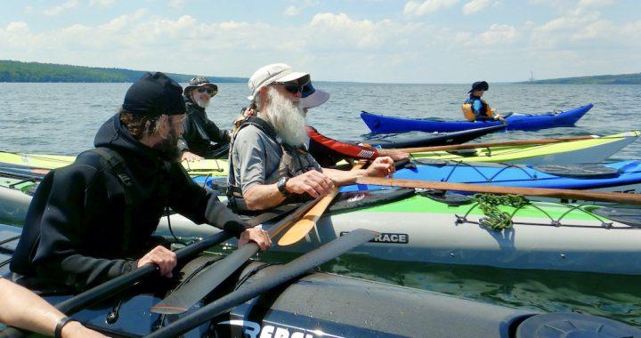 Rafting up with Turner on Cayuga Lake